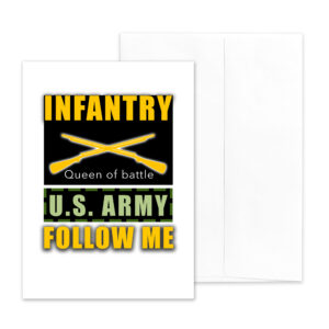 Follow Me - US Army Infantry Military Graduation Congratulations Greeting Card - by 2MyHero