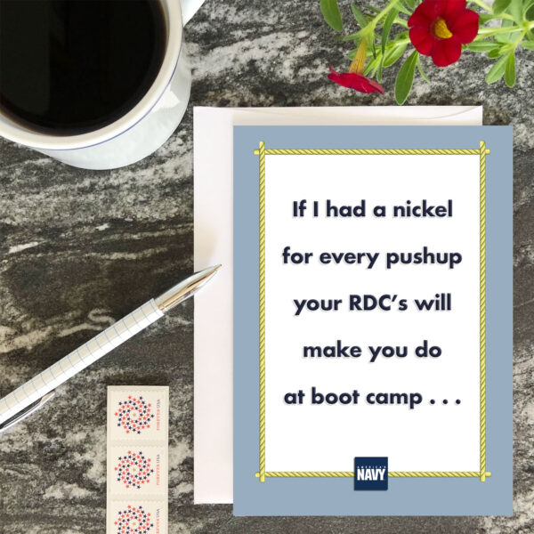 If I Had - US Navy boot camp encouragement greeting card - by 2MyHero