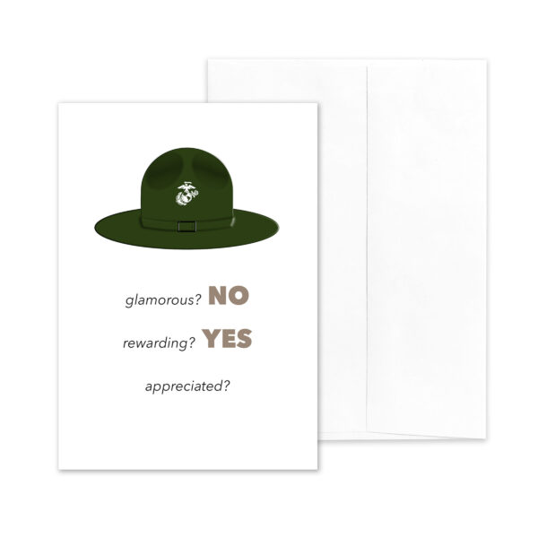Sir, YES SIR! - US Marine Corps Military Drill Instructor Appreciation Thank You Greeting Card - by 2MyHero