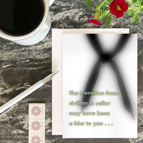 Transition Blur - US Navy military appreciation encouragement greeting card - by 2MyHero