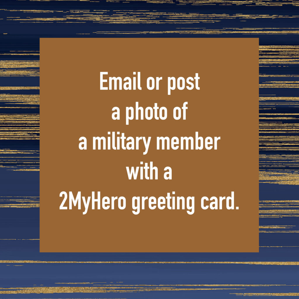 2MyHero military greeting card giveaway of a $50 Amazon gift card