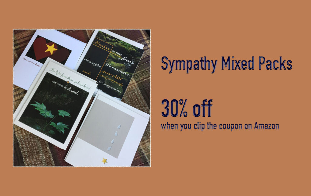Military sympathy greeting cards from 2MyHero are 30% off when you clip the coupon on Amazon during Prime Days.