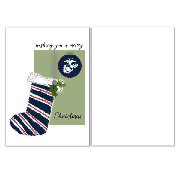 US Marine Corps Holiday Marine greeting card with envelope - Merry Christmas Marine- by 2MyHero