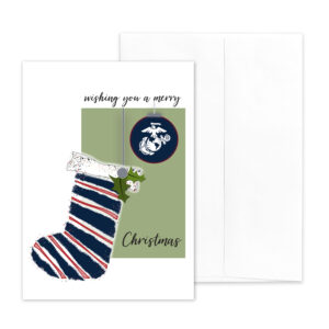 US Marine Corps Holiday Marine greeting card with envelope - Merry Christmas Marine- by 2MyHero