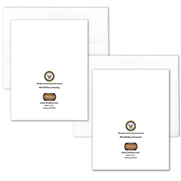 US Navy Christmas Holiday Box of 12 US Navy greeting cards with envelopes - Merry Christmas Sailor- by 2MyHero