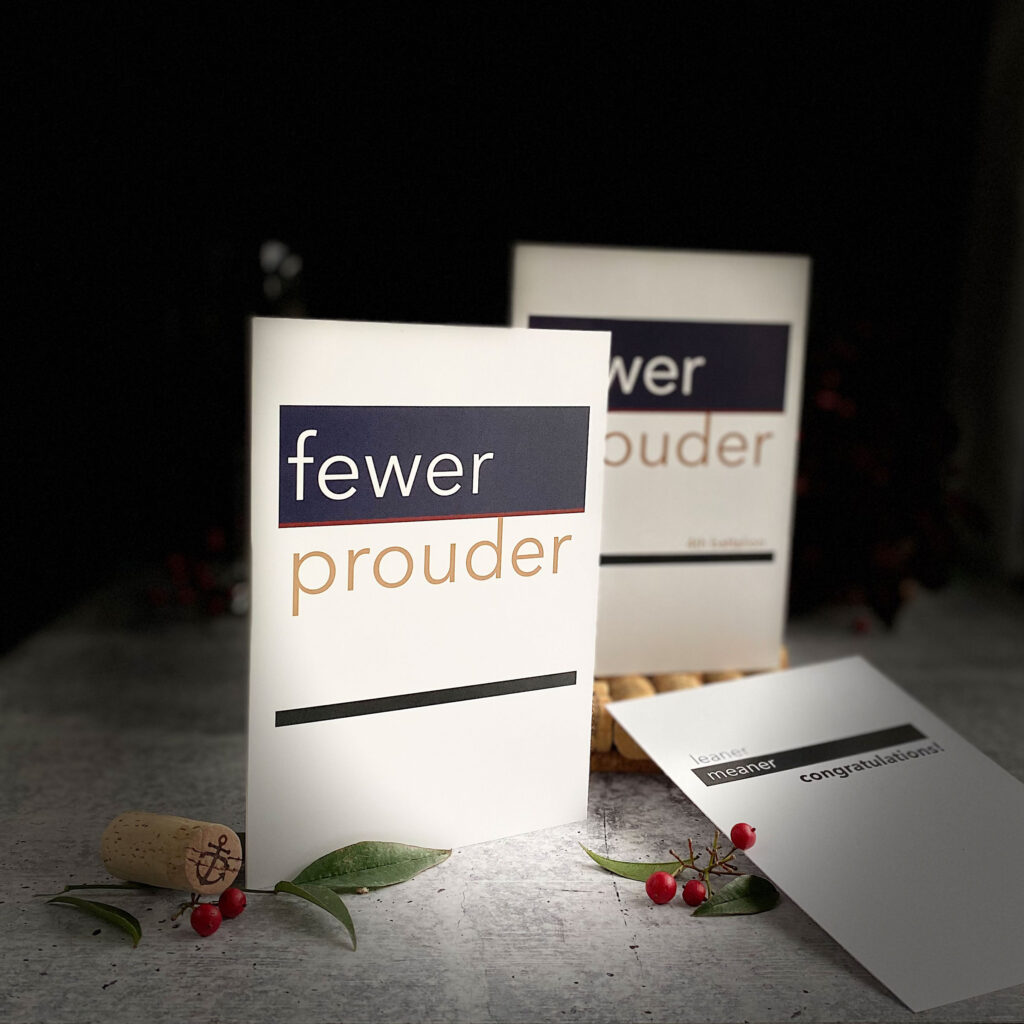 New from 2MyHerp - Fewer Prouder military greeting card for female Marines - without 4th Battalion.