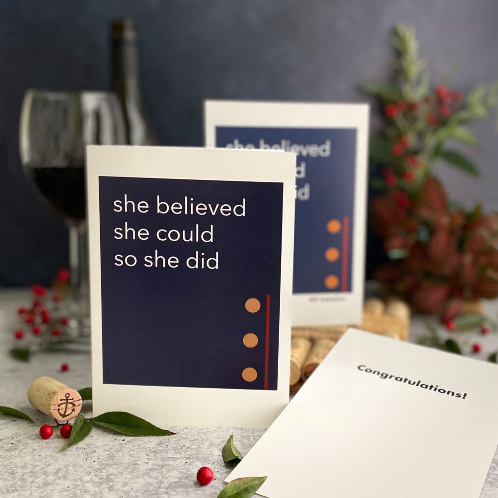 She believed- military greeting card for US Marine Corps female Marines by 2MyHero