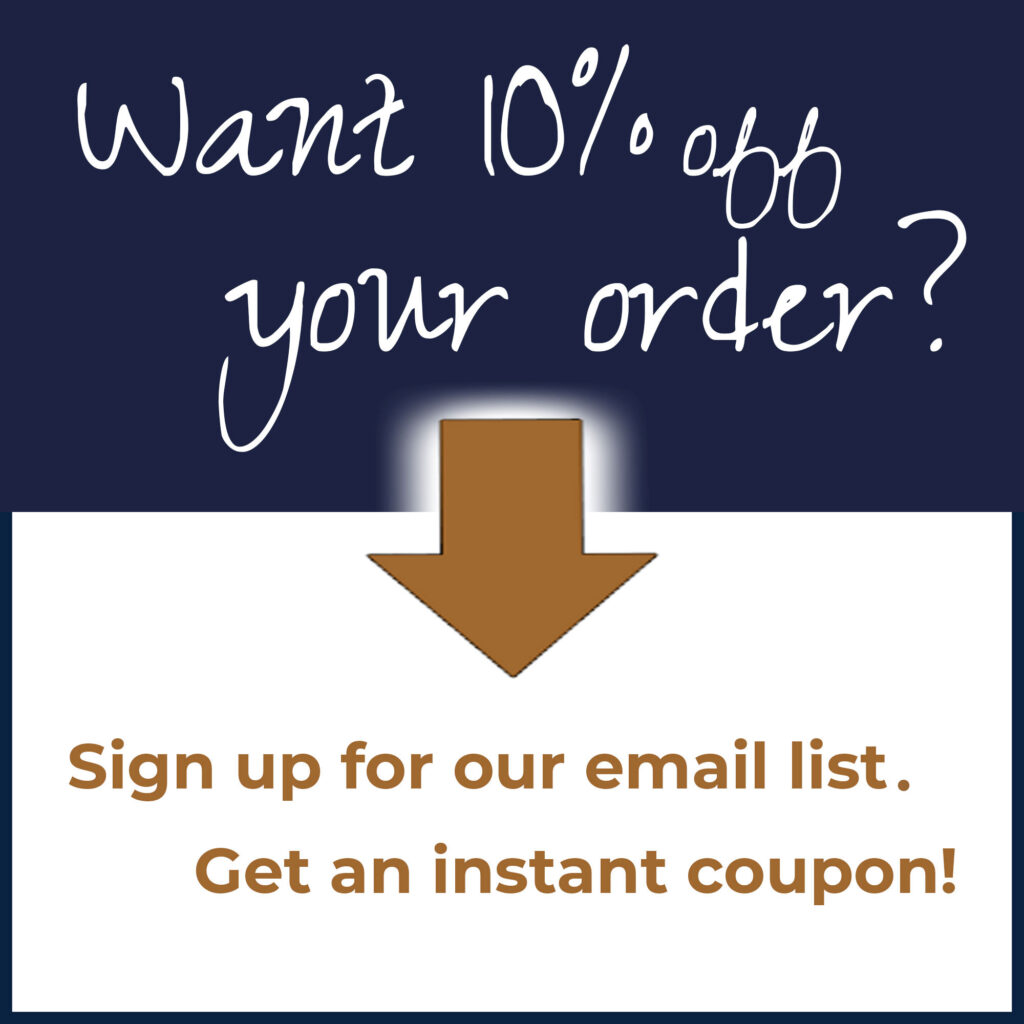 sign up for 2MyHero email list and get 10% off your order