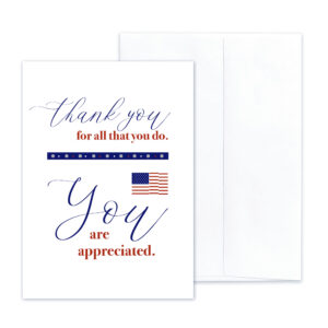 Military Appreciation - military greeting card and envelope - by 2MyHero