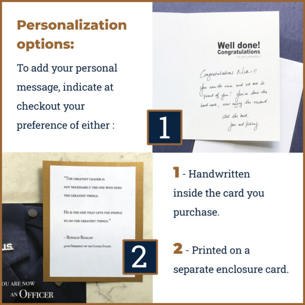 2MyHero offers optional personalization on all military greeting card orders