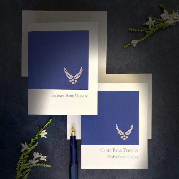 2MyHero USAF Customizable box of notecards for Airmen 30 blank note cards and 30 envelopes