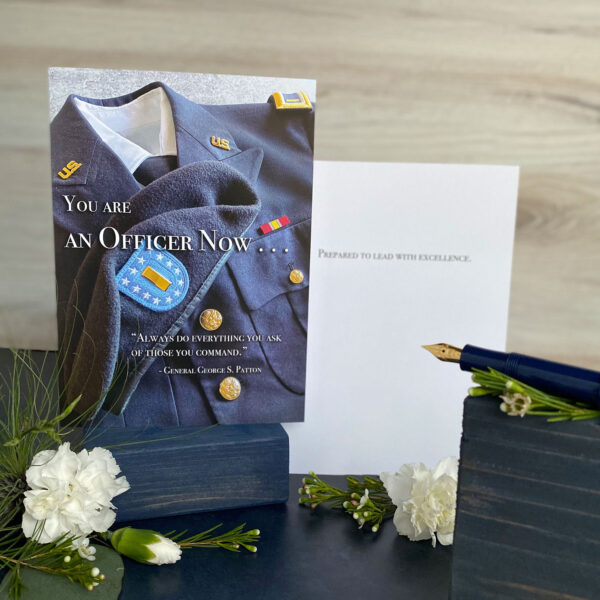 An Officer Now - US Army Soldier Military Graduation Congratulations Greeting Card by 2MyHero
