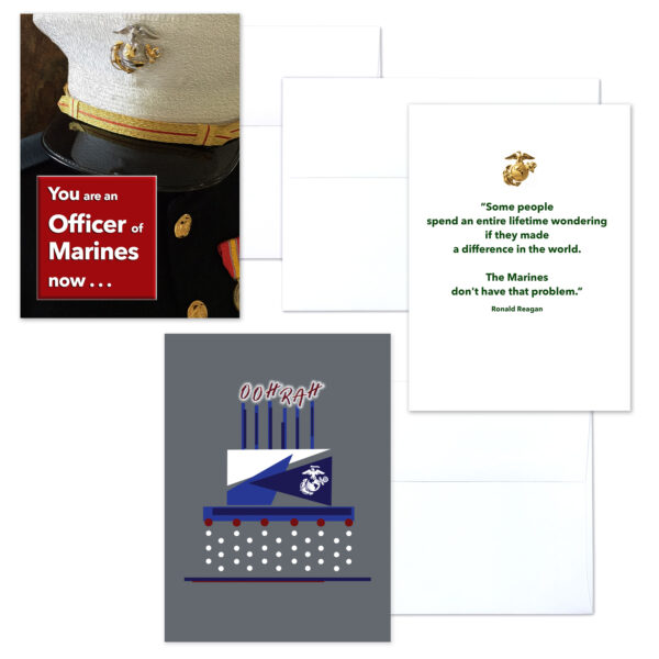 USMC Officer Three - mixed pack of military greeting cards for commissioned officers - 2MyHero