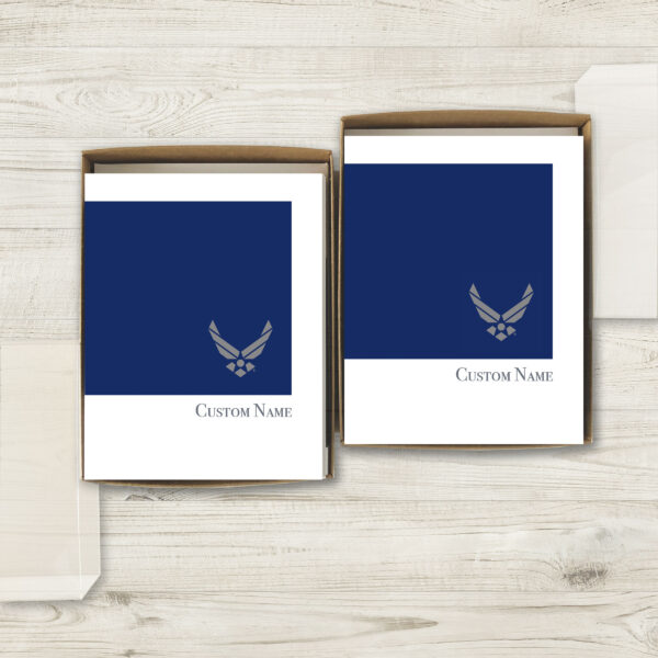 2MyHero USAF Customizable box of notecards 30 blank note cards and 30 envelopes