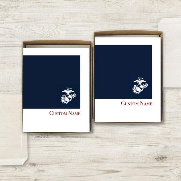 2MyHero USMC Customizable box of notecards 30 blank note cards and 30 envelopes