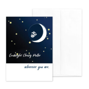 Goodnight Chesty Puller - US Marine Corps military appreciation encouragement greeting card - by 2MyHero